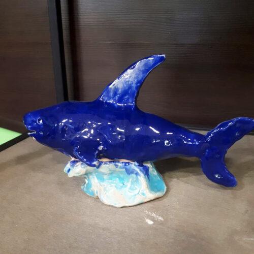 Акула из глины
