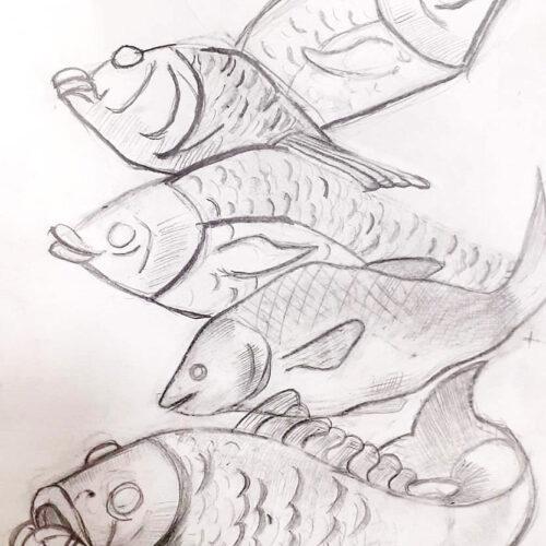 Наброски. Рыбы